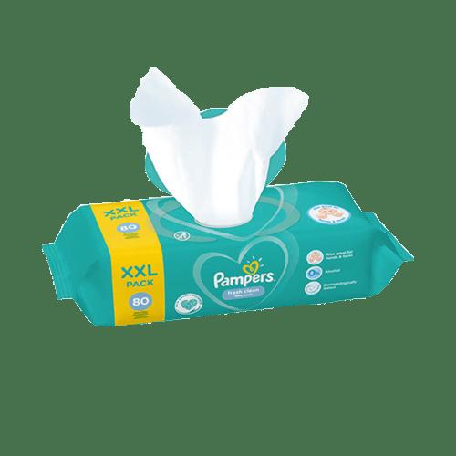 Pampers Fresh Clean Törlőkendő 12x 80 db
