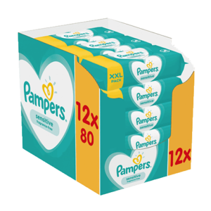 pampers sensitive törlőkendő 12x80