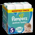 Pampers Active Baby Nadrágpelenka 5-ös méret 150 db (11-16 kg) - Havi pelenkacsomag