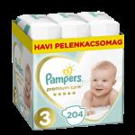 Pampers Premium Care Nadrágpelenka 3-as méret (6-10 kg) 204 db - Havi pelenkacsomag